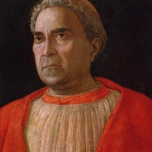 Aндреа Mантеня портрет на кардинал Mецарота