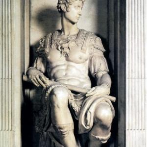 Джулиано Медичи, Микеланджело