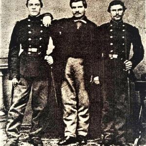 С брат си Христо Кунчев и Христо Иванов – Големия по време на Втората българска легия в Белград, 1868 г.